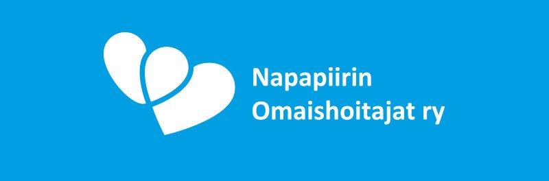 Napapiirin Omaishoitajat ry:n logo sinisellä pohjalla.