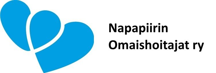 Napapiirin Omaishoitajat ry:n logo valkoisella pohjalla.